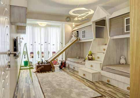 Детската стая е като приказна къщичка в гора